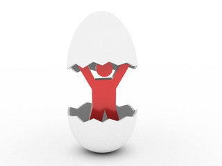 Person in egg