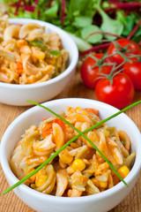 Healthy bowl of delicious pasta