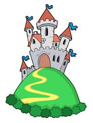 Printed kitchen splashbacks Castle Fairy tale castle