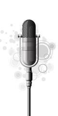 microphone metallic