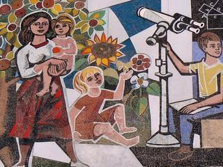 Mosaik am Haus des Lehrers in Berlin