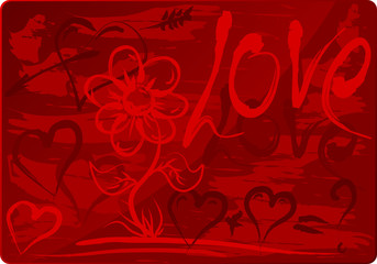 Beautiful Valentines Day Background with Hand-drawing Symbols