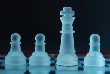 Pawns and king