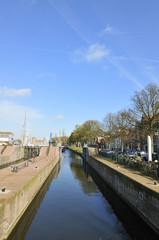 Sluice in Muiden Holland