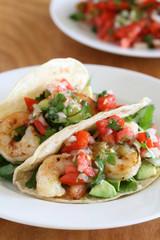 Shrimp Tacos with Tomato Salsa