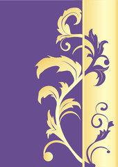 Background Gold Purple