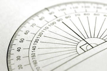 printed protractor for geometry measurement