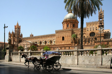 La pose en embrasure Palerme Catedral de Palermo, Sicilia
