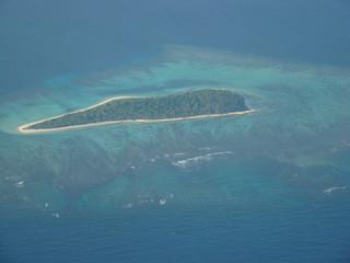 vue aérienne lagon en nouvelle calédonie