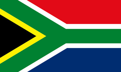 south africa -flag  aspect ration  5:3
