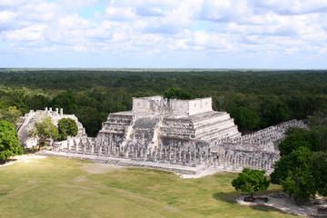 ancient ruins of chichen itza in Mexico