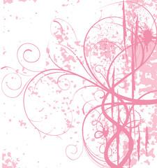 grunge floral rose
