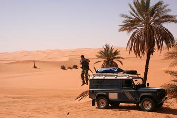 Oase im Erg Ubari - Libyen