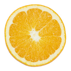 Half an orange isolated on a white