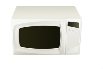 White microwave under the light background