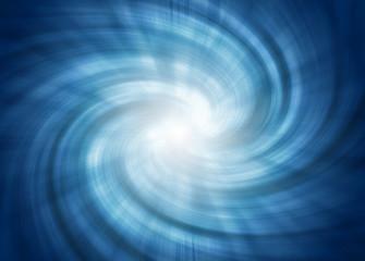 tunnel spirale blu