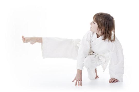 girl having taekwondo classes