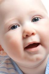 closeup baby boy portrait