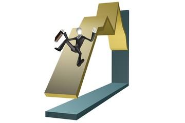 stock exchange crash conceptual business illustration