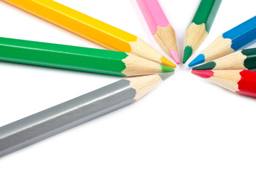 Colored school pencils