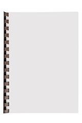 cahier à spirale plastique sur fond blanc