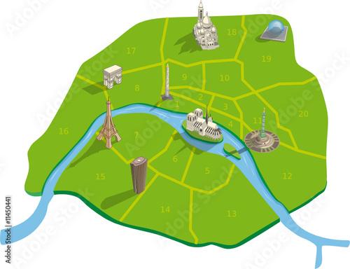 Plan touristique paris arrondissement fichier for Carte touristique de paris