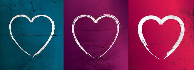 Modern valentines heart