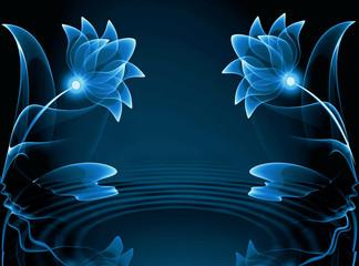 Transparent flowers