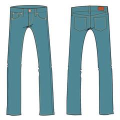jeans vector illustration