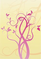 illustration verspielter Baum