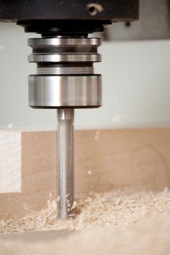 Cutting wood on CNC milling