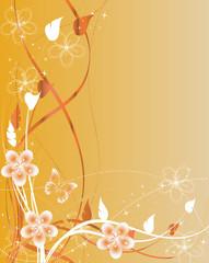 floral orange papillon acidulé