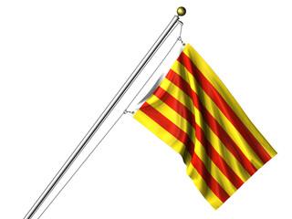 Isolated Catalunyan Flag