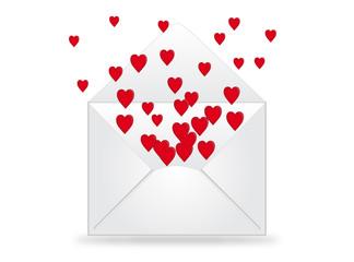 Enveloppe rempli de Coeurs