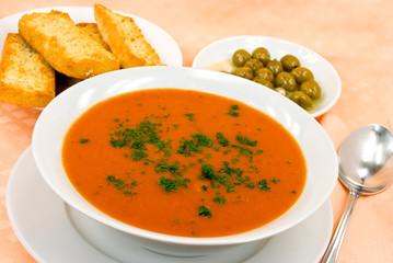 Tomaten-Krem-Suppe