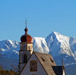 Church in alipine scenery