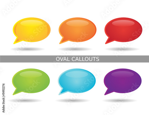 quotpresentation oval callout iconsquot stock image and royalty
