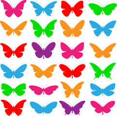A Selection of Vector Butterflies