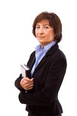 Happy senior businesswoman