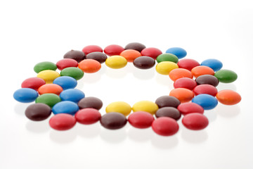 colorful candy in a circle