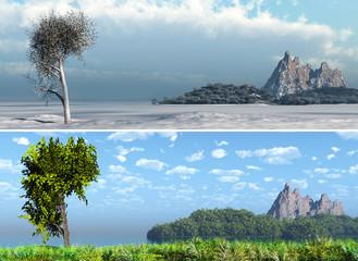 panorama summer, winter