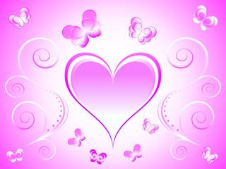 vector illustration heart background
