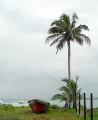 old fishing boat seaside nicaragua