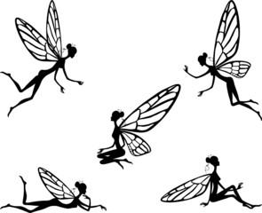 vector illustration of little fairy