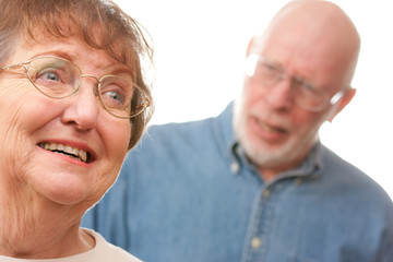 Emotional Senior Couple in an Argument