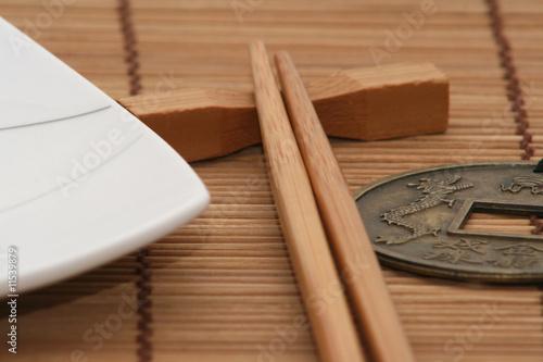 Comida oriental detalle de vajilla china fotos de for Vajilla oriental