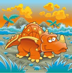 Photo sur Plexiglas Dinosaurs Funny triceratops