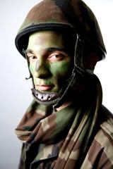 soldier camouflage uniform