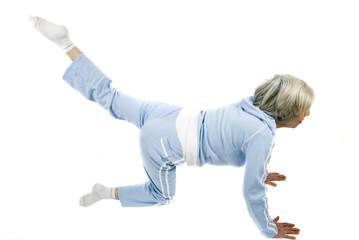 Mature woman fitness