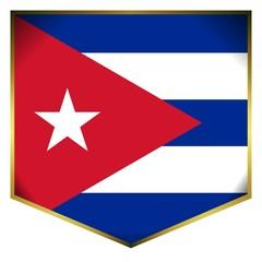 drapeau ecusson cuba flag